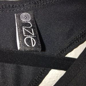 Onzie Tops - Onzie Black Open Back Criss Cross Tank Top